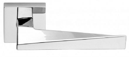 Frascio 720/50Q/PCP Sweep Door Handle On Square Rose Polished Chrome